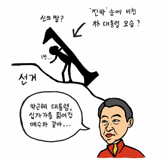 진박 눈에는 박근혜 대통령이 예수?