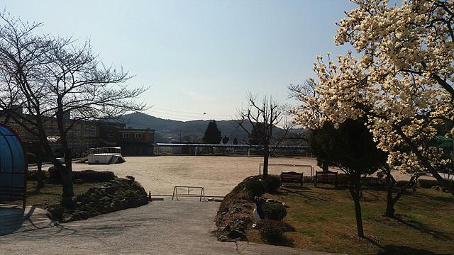 정병욱의 아버지인 정남섭이 근무했었던 하동군 진정초등학교