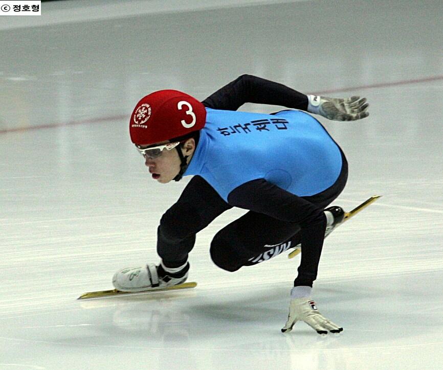 지난 2013년 국가대표 선발전 때 당시 노진규의 모습. 그는 이 대회에서 종합 3위를 차지, 소치 올림픽 계주멤버로 발탁되었다.