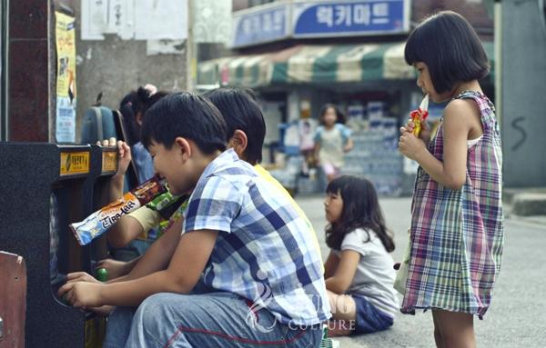 영화 <콩나물>의 한 장면.
