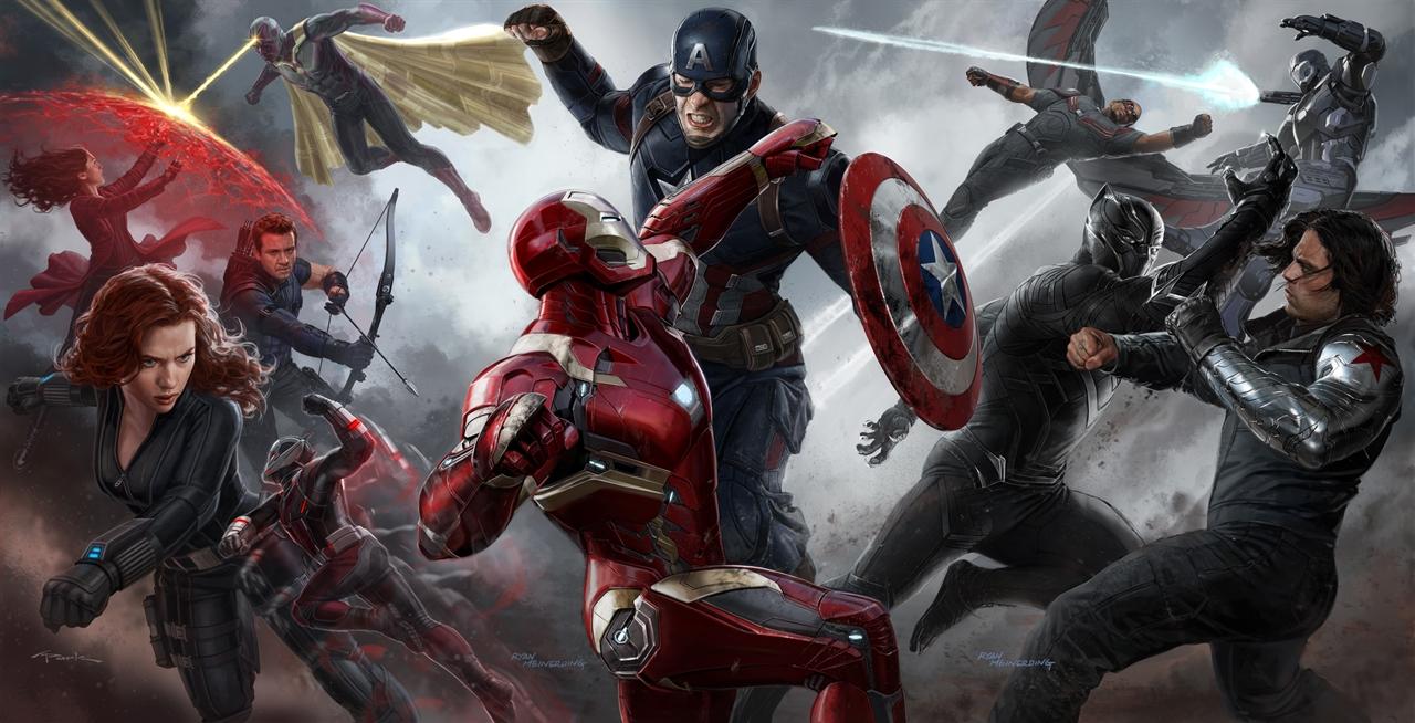 영화는 '슈퍼영웅들의 집단난투극' 수준이다. 철학적 성찰은 빠진.