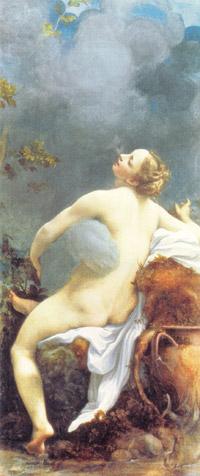 <제우스와 이오>(1532년), 안토니오 알레그리 다 코레조, 빈 미술사 박물관 소장 제우스는 구름으로 변신해 이오와 사랑을 나눈다.