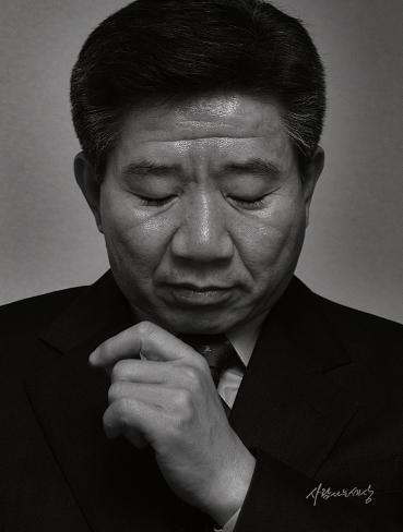 황문성 작가가 인터뷰 중에 찍은 노무현 대통령의 사진