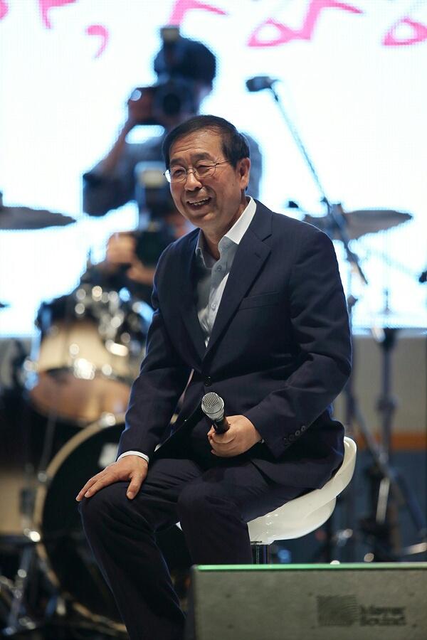 청춘콘서트에 강연자로 참석한 박원순 서울시장