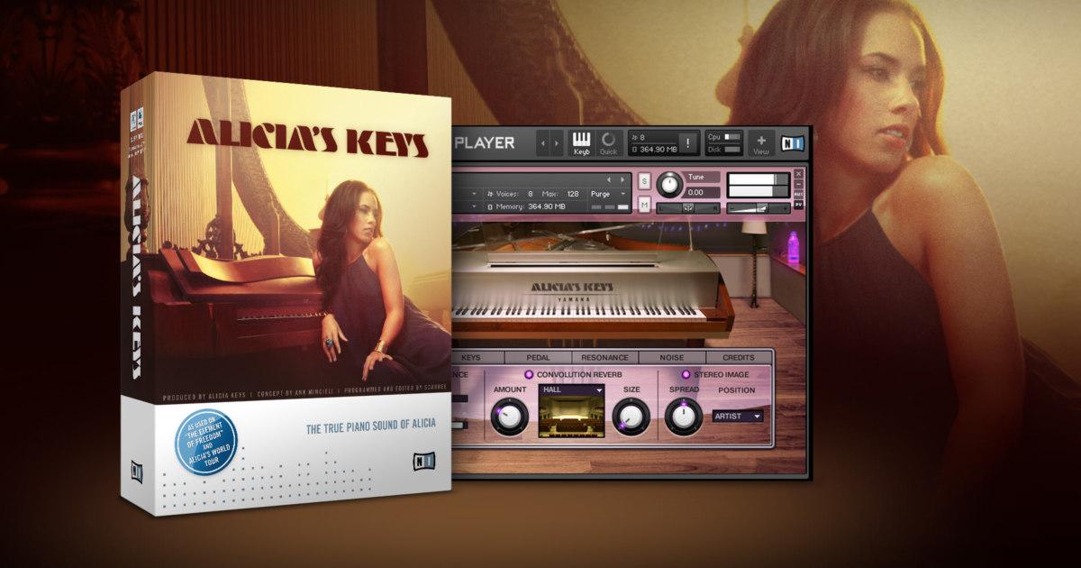 유명 팝가수 알리샤 키스의 파이노 소리를 재현한 가상악기 Alicia's Keys Piano 실행 화면