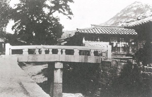▲ 자수궁교 옛사진, <경성부사> 1권(1934년)
