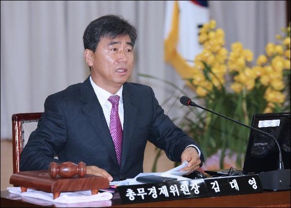7대 후반기 의장 당선한김대영 안양시의원(새누리)