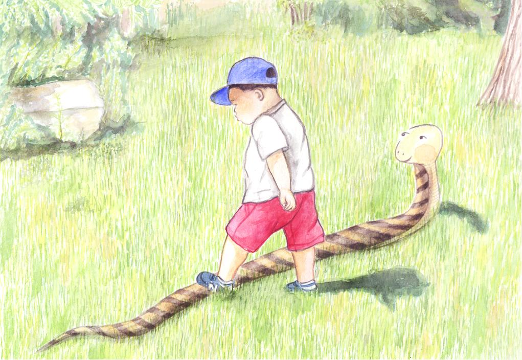 뱀을 밟은 아이