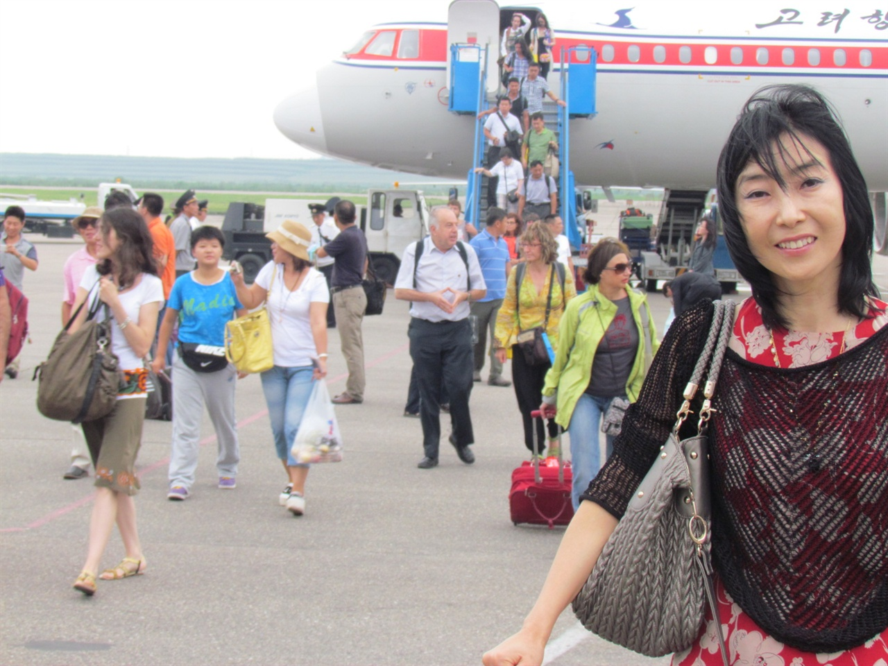 북한에 방문한 신은미씨.
