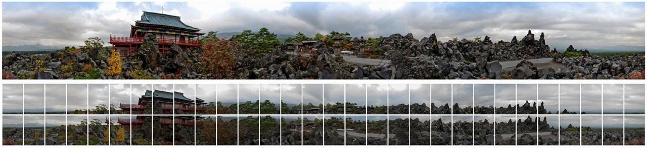 관음당 60장의 사진으로 제작한 파노라마의 모습
