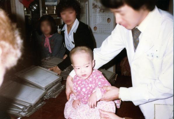 한국에서 미국으로 입양 보내질 당시의 안드레아