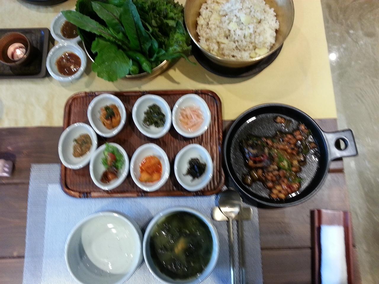 제주 낭푼밥상, 본상 차림