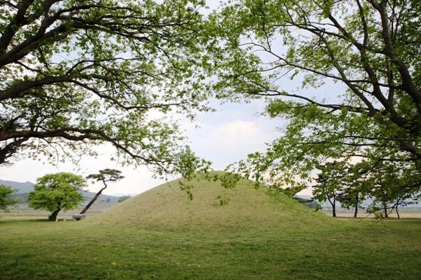 경북 경주시 곳곳에서는 왕과 귀족의 무덤으로 추정되는 거대한 고분을 만날 수 있다.