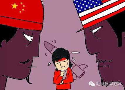 지난 4월 남양상보(南洋商?)에 게재된 한국 정부의 사드 배치 관련 만평.