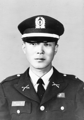 광주보병학교 시절의 필자(1969. 5.)