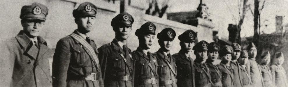 한국광복군 제3지대 대원들 대한민국 임시정부의 국군이었던 한국광복군 제3지대 소속 대원들의 모습
