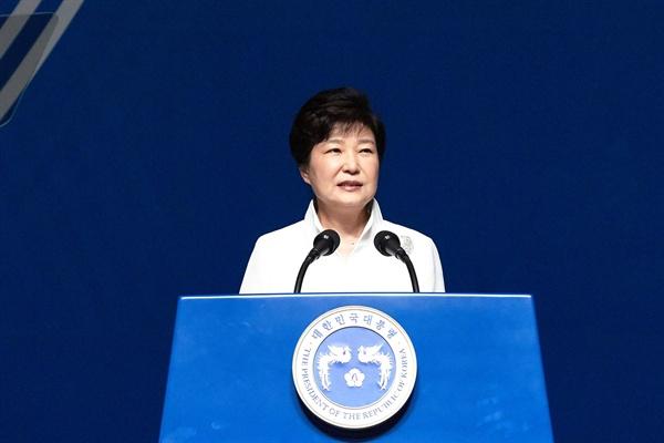 박근혜 대통령이 15일 제71주년 광복절을 맞아 경축사를 하고 있다.