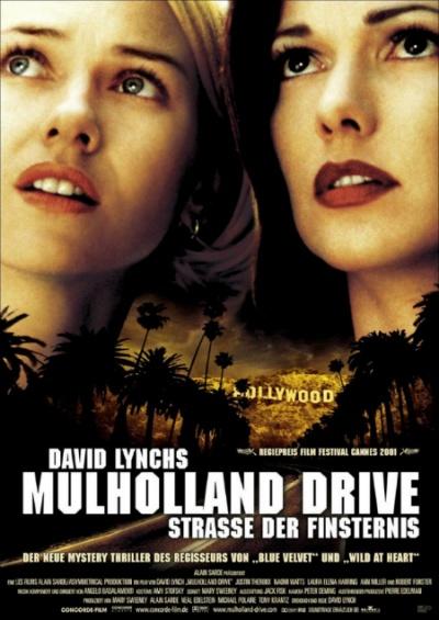영화 <멀홀랜드 드라이브> 포스터. BBC가 선정한 21세기 가장 위대한 영화 100선 중 최고로 꼽혔다.