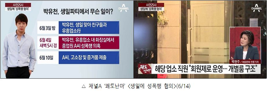 △ 채널A '쾌도난마' <생일에 성폭행 혐의>(6/14)