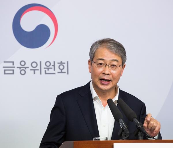 임종룡 금융위원장은 5일 서울 중구 프레스센터에서 열린 '9월 금융개혁 기자간담회'에 참석해 발언하고 있다.