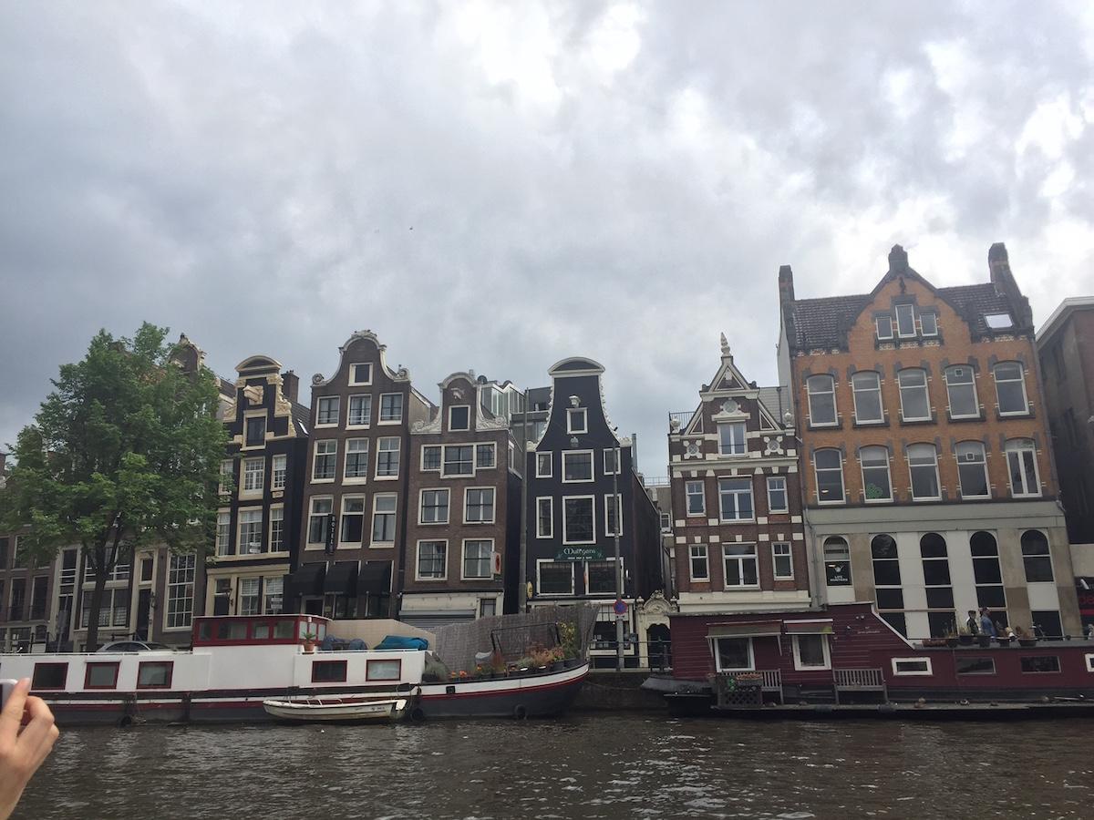 암스테르담 맞대기 건물
