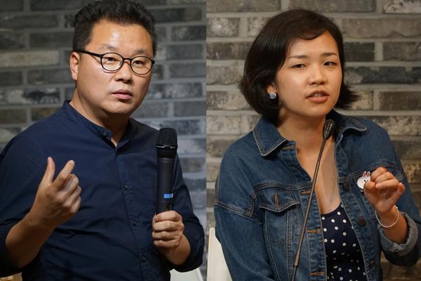 <나는 1인기업가다> 팟캐스트 운영진 홍순성, 정희정씨.