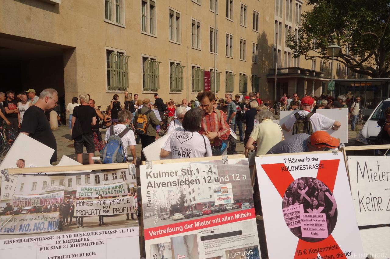임대료를 멈추자(Mietenstopp) 시위 모습