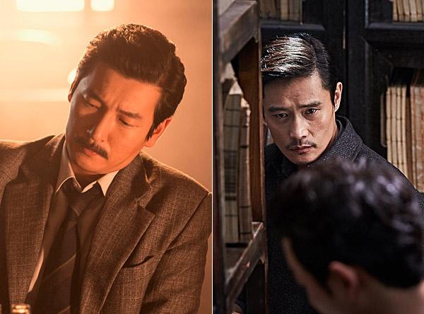 영화 <암살>과 <밀정>에서 약산 김원봉을 연기한 조승우(왼쪽), 이병헌(오른쪽).