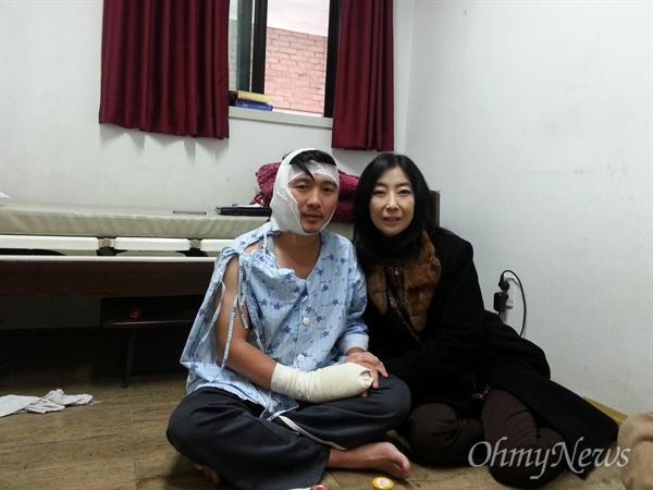 한겨레통일문화상 특별상을 대리수상한 곽성준 선생. 그는 전북 익산 폭탄테러 당시 나를 구해준 은인이다.