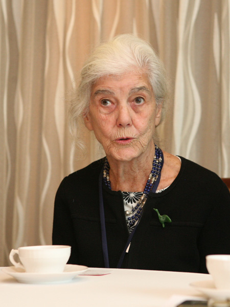 암사동유적 국제학술회의에 참석한 사라 넬슨 교수.
