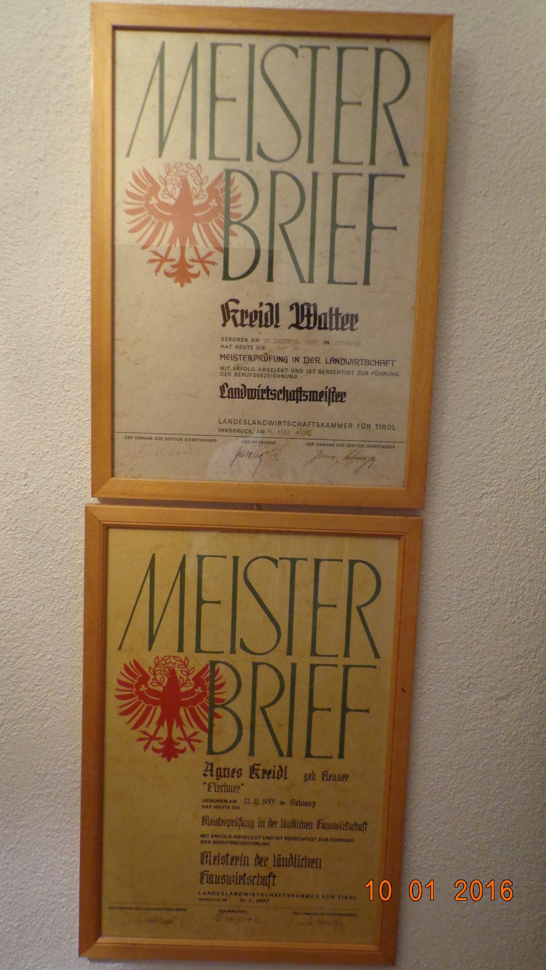 마이스터  오스트리아의 농업마이스터 자격증
