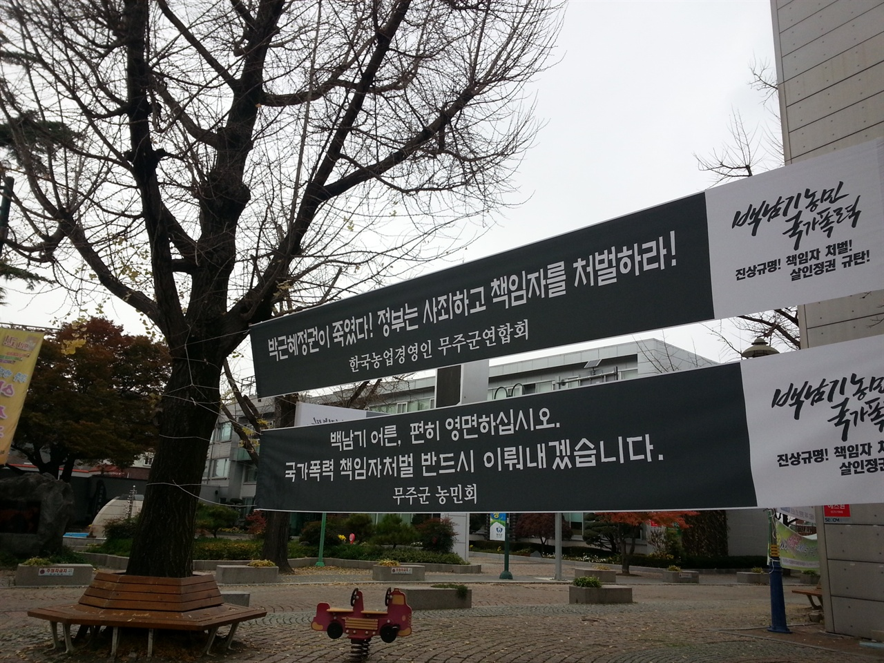한국의 농부 한국의 청소년, 청년들도 백남기농부처럼 '자랑스러운 농부'가 되어야