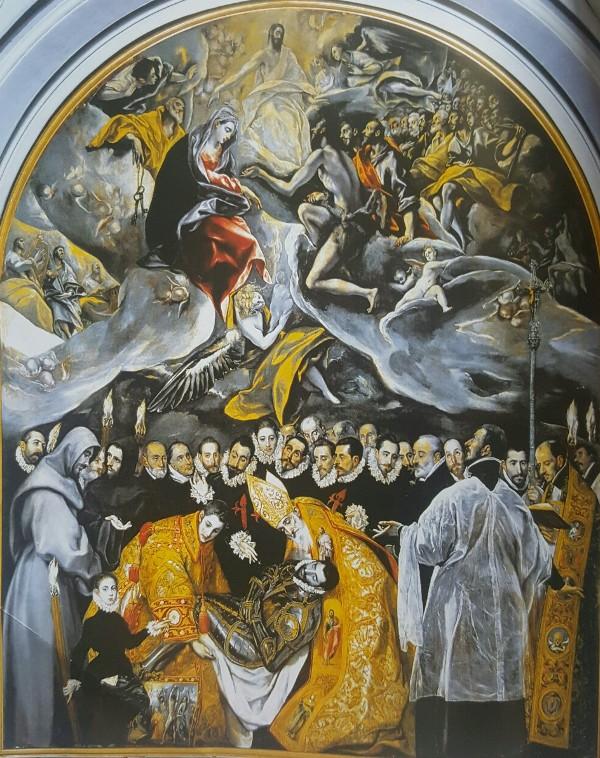 엘 그레꼬의 '오르가스 백작의 장례식(Burial of the Conde de Orgaz) 톨레도 산토 토메 성당의 중요한 재정 담당역할을 하고 있는 작품