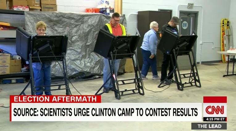 미국 대선 개표 해킹 의혹을 보도하는 CNN 뉴스 갈무리.