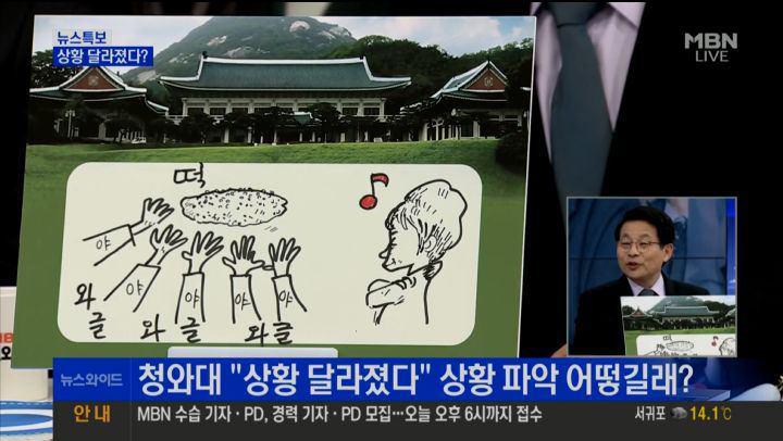 '야당은 엉망진창, 청와대만 제대로 보고 있다'는 차명진 전 의원 MBN <뉴스와이드>(11/22) 화면 갈무리