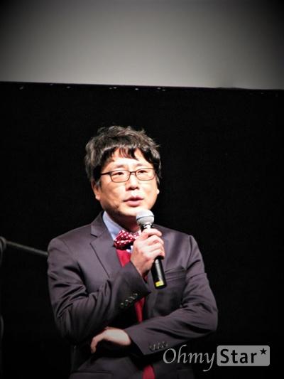 조영각 서울독립영화제 집행위원장이 퇴임의 변을 하고 있다.