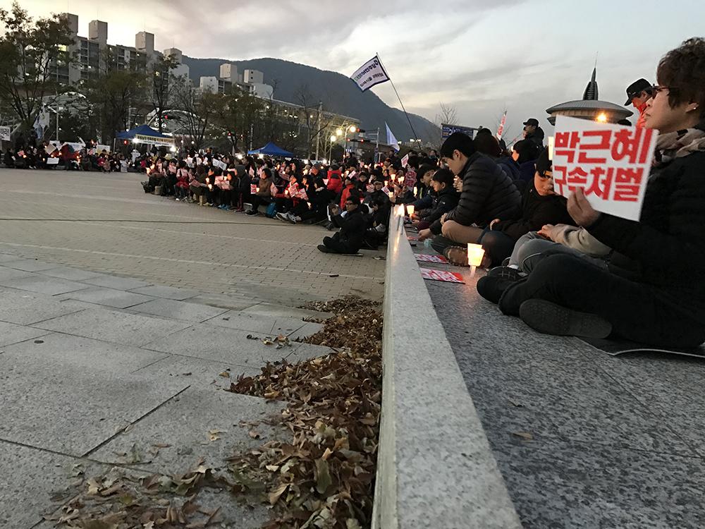 김해 박근혜 촛불 집회