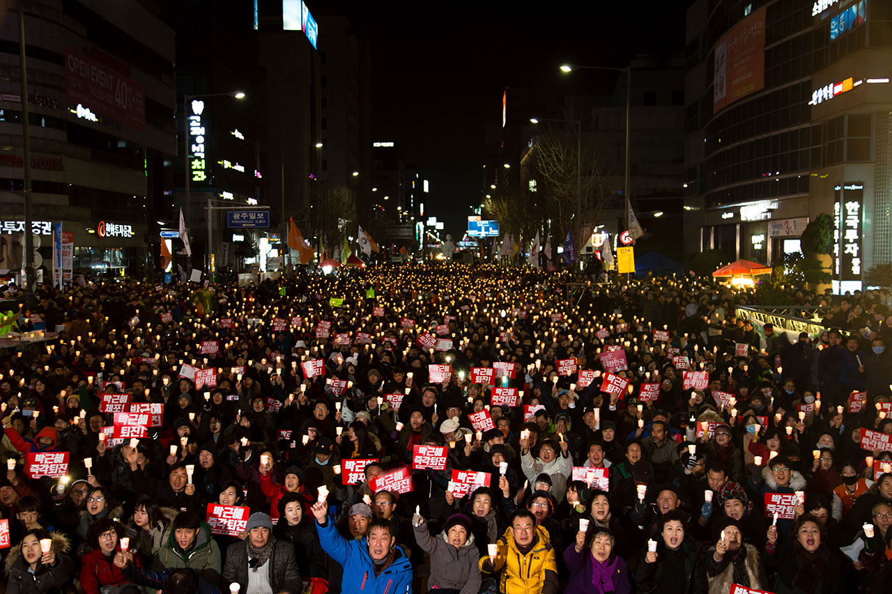 광주 금남로에서는 열린 8차 박근혜퇴진시국촛불집회