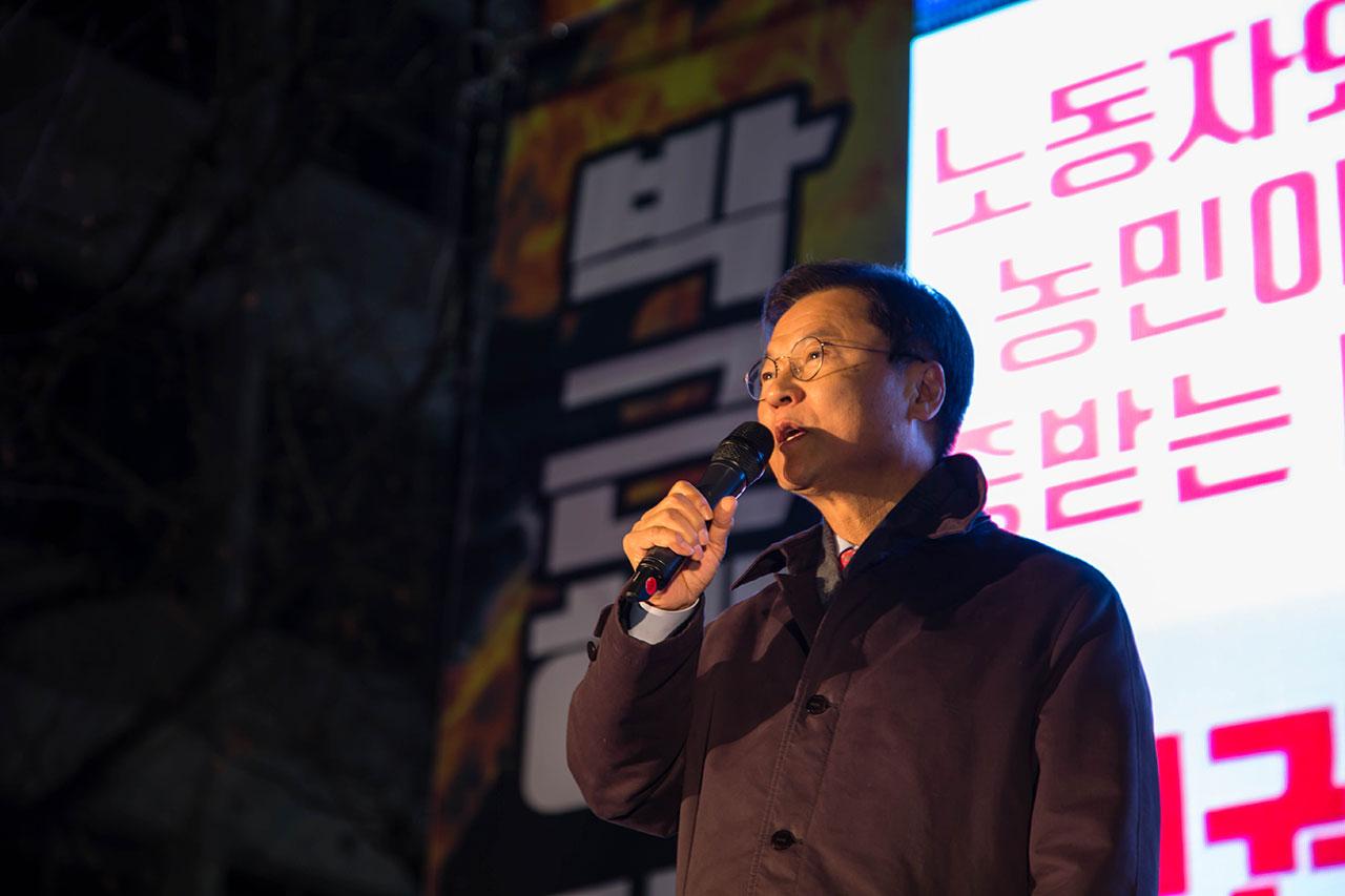 광주 8차 박근혜퇴진시국촛불집회, 국민의당 천정배 국회의원