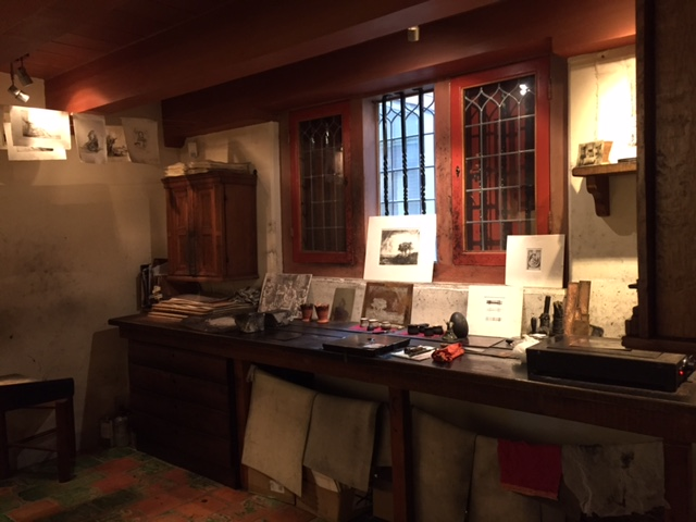 렘브란트의 집 박물관, 동판화 실습실