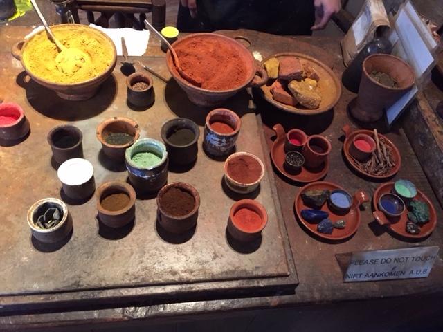 렘브란트의 집 박물관, 물감재료들