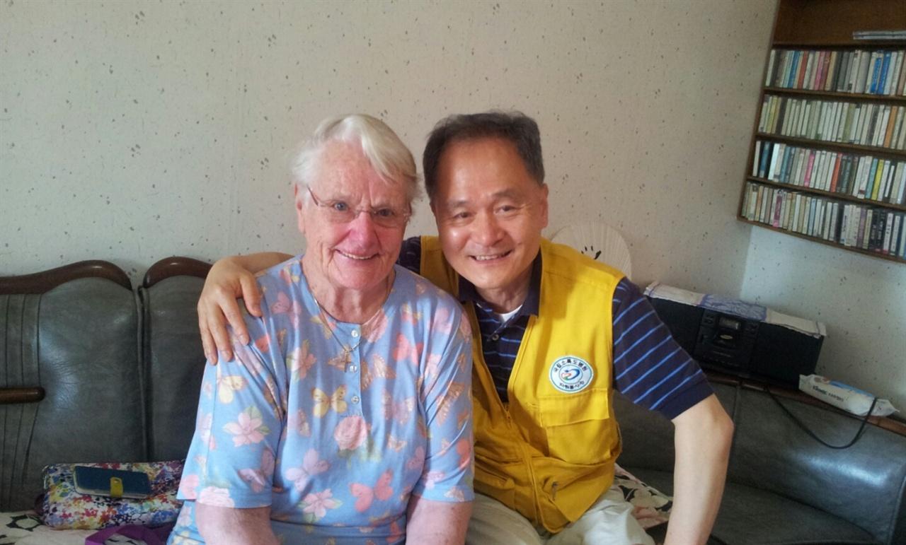 소록도 봉사 43년 오스트리아 마리안느 수녀님과 함께
