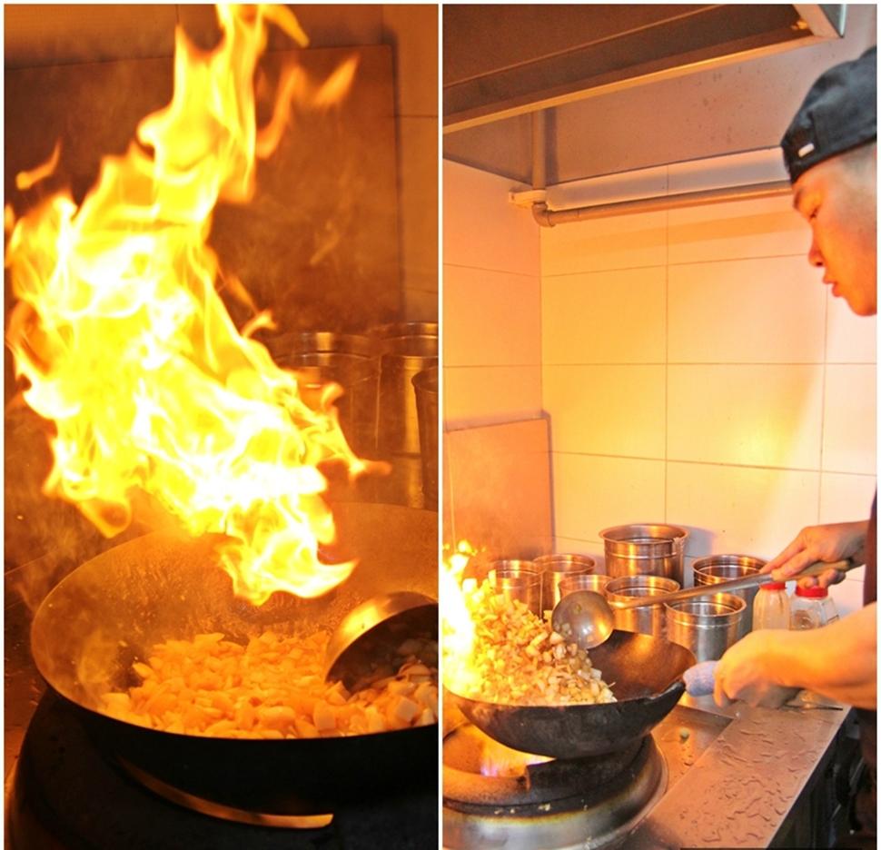 중국음식은 불 맛이 대세다. 음식에 불향이 제대로 입혀져야 맛있다.