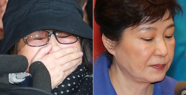 국정농단의 두 '주역'  박근혜(오른쪽) 대통령과 최순실(왼쪽)씨.