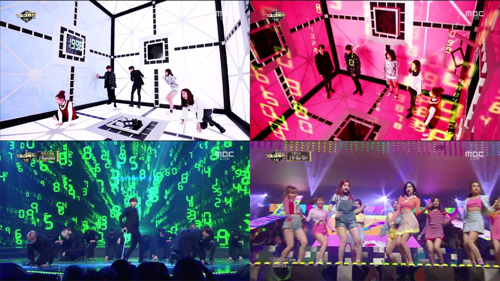타임슬립을 주제로 꾸며진 2016 MBC 가요대제전 (방송화면 캡쳐)