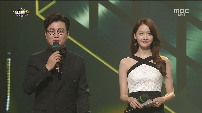 MBC가요대제전 MC를 맡은 김성주+윤아 (방송화면 캡쳐)
