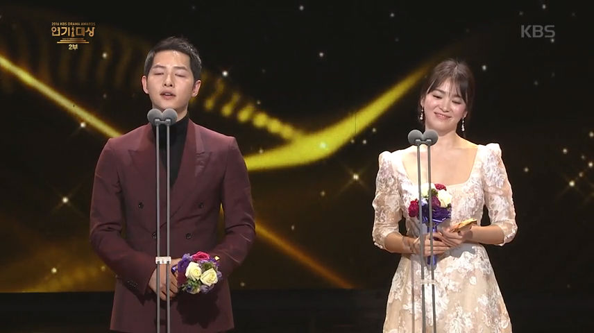 KBS <연기대상>의 송중기 송혜교