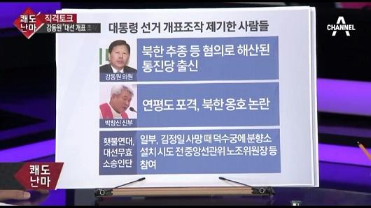 채널A 쾌도난마의 허위보도 채널A 쾌도난마의 횃불연대에 대한 허위보도 캡처
