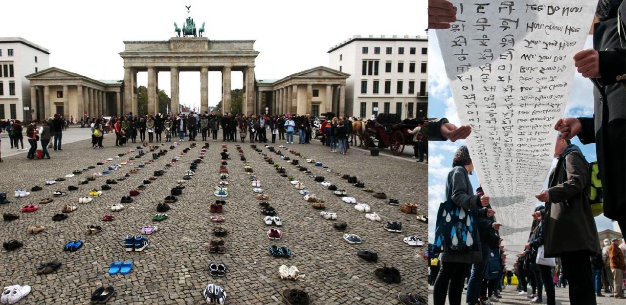 베를린에서 진행되었던 세월호 진상규명 집회들