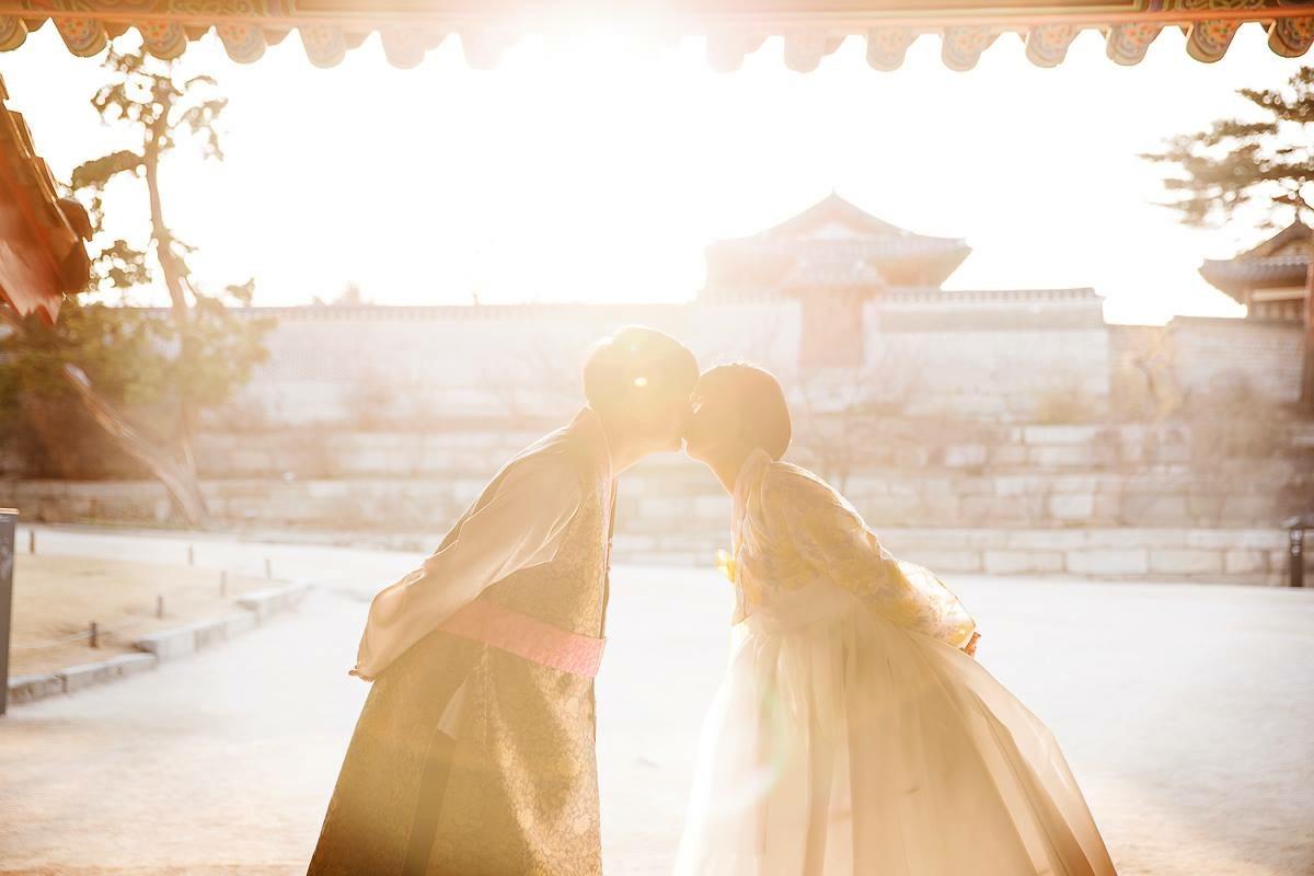 창덕궁에서 웨딩사진.